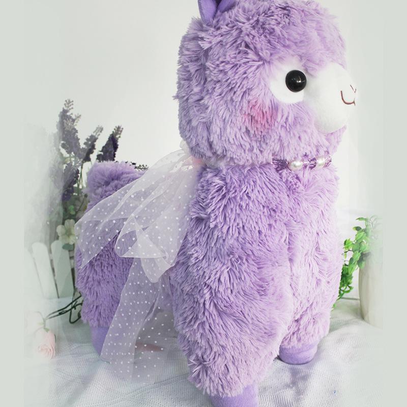 soft kawaii 40cm peluche alpacasso alpaca toys pink purple white sheep stuffed animal japan plush baby kids new years gift(China (Mainland))