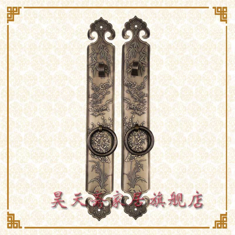 [Haotian vegetarian] Chinese antique Ming and Qing furniture handle copper door handle copper with HTC-163 Classical Handle<br><br>Aliexpress