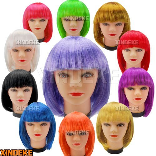 10x New Fashionable BOB style Short cosplay Party fancy dress fake hair Wig Wigs ( 11 colors in choice )