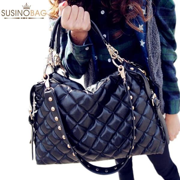 Retro Women Messenger Bags Women Handbag Genuine Women Leather Handbags Women Black 2015 Bolsas Femininas(China (Mainland))