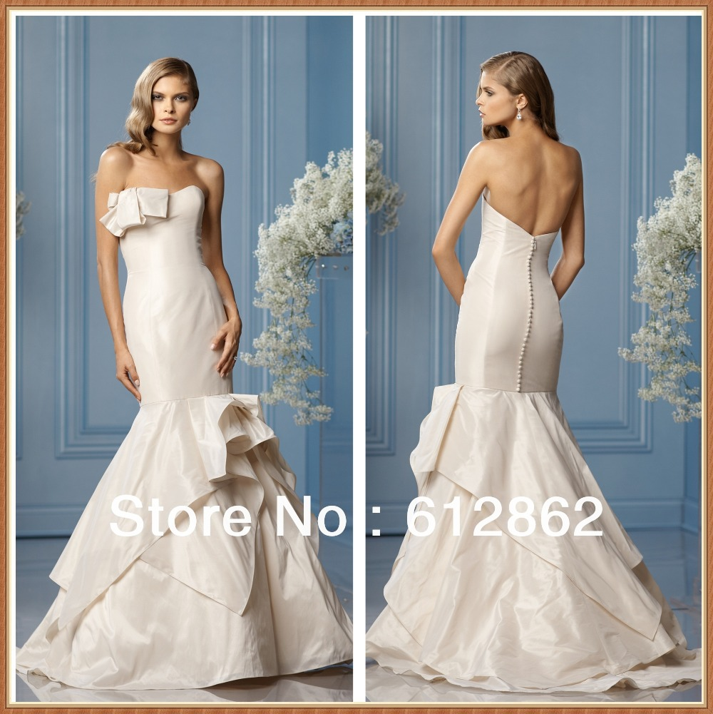 Low back mermaid wedding dress gown and dress gallery for Low backed wedding dresses