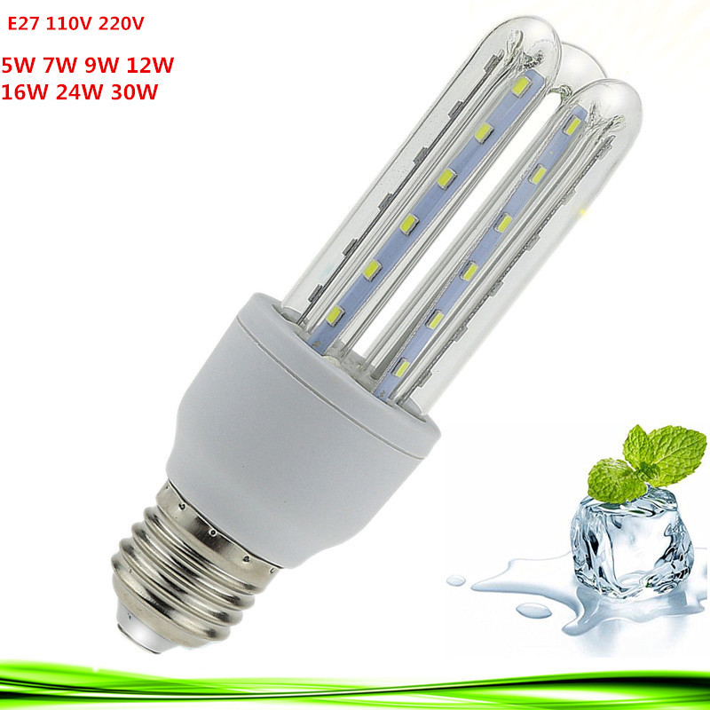1X Led Corn Bulb E27 12W 30W Energy Saving LED E27 E14 bulb Lamp Spot Light 220V/110V warm/white Lampada Home Lights Bombillas(China (Mainland))