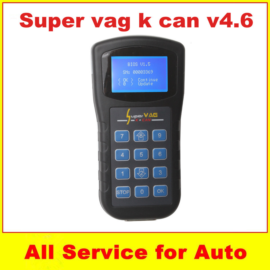 New 2015 Super VAG K CAN V4.6 Commander multi language support K-Lines Can BUS cables Electric obd2 Auto Diagnostic Tool(China (Mainland))