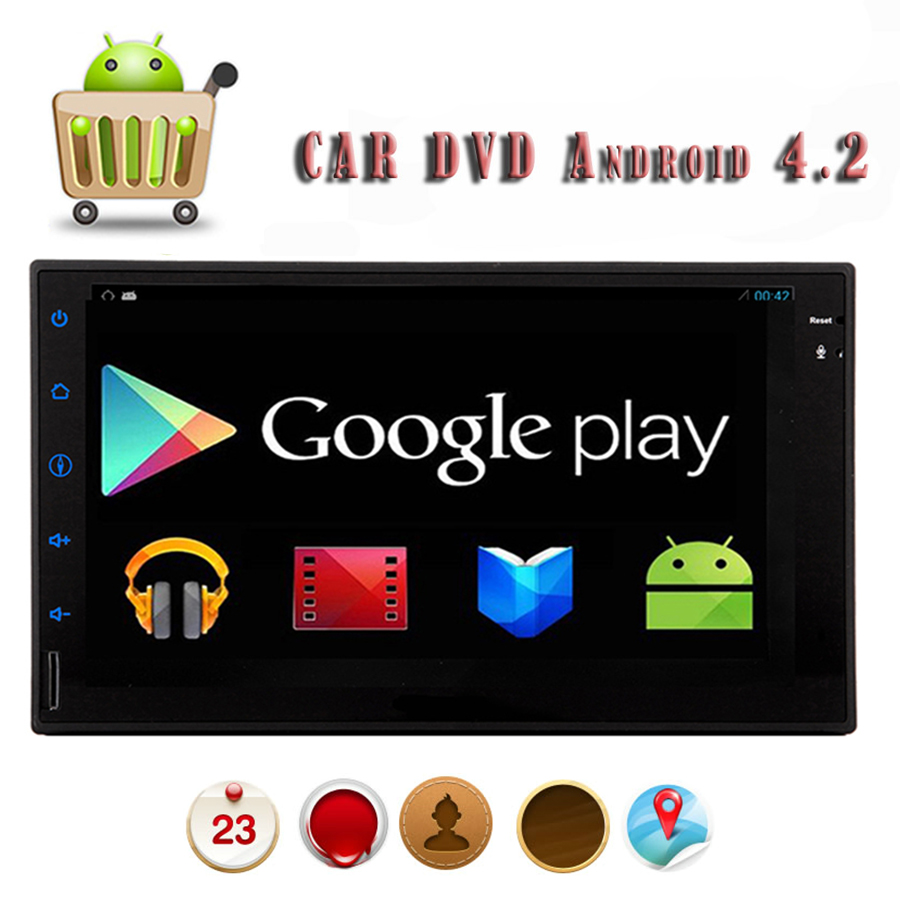 Car Electronics PC Tablet Double 2 Din Android 4.2 Headunit 7'' GPS Navigation Car Stereo Radio DVD Player Bluetooth iPod WiFI(China (Mainland))