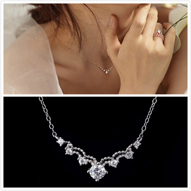 2017 New Lovely Queen Crown Necklace 925 Silver Child Name Necklaces Zircon Handmade Personalized Necklace Gift N160801(China (Mainland))
