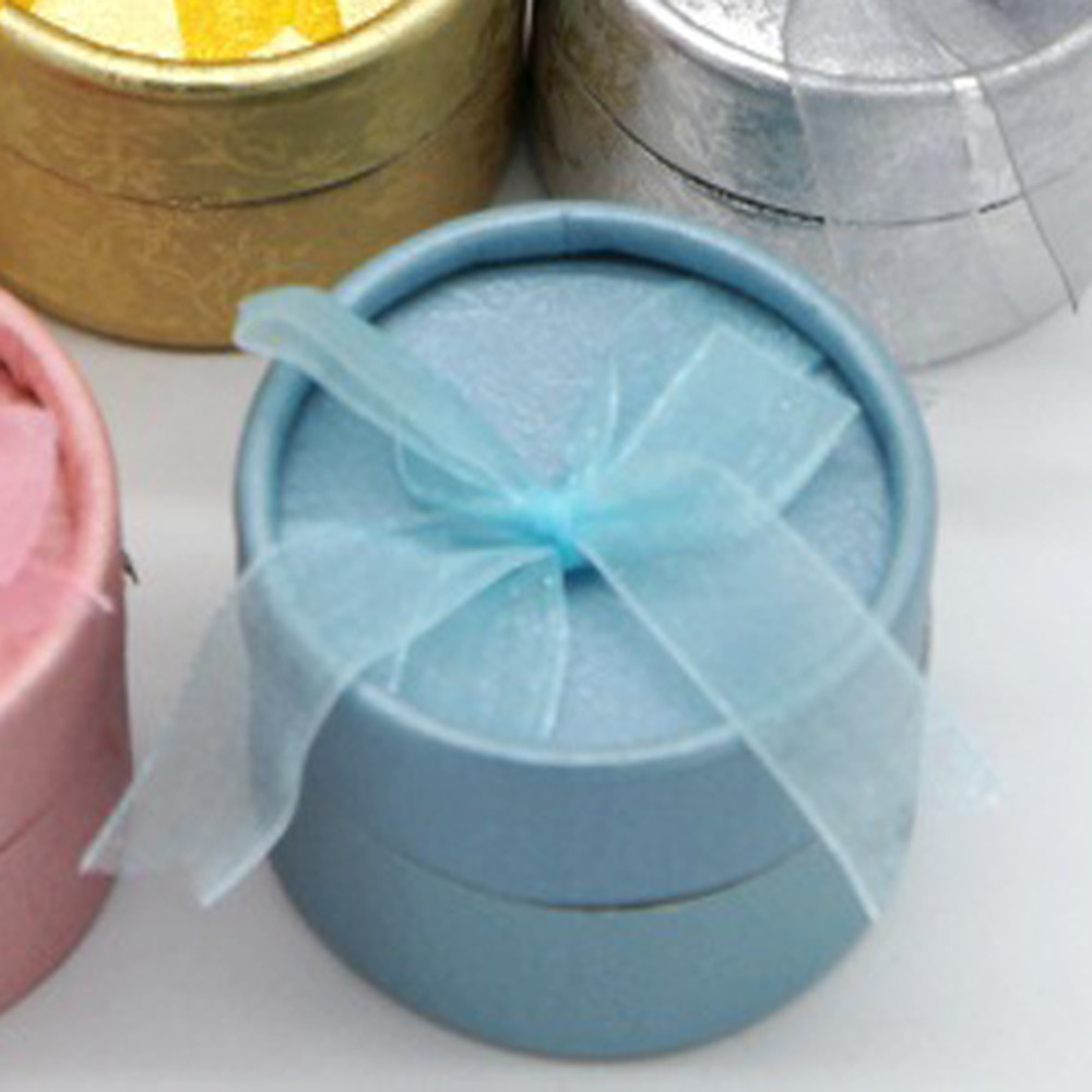 Fashion New Style Color Random Mini Jewelry Storage Paper Box Round Shape Cute Small Gift Box For Ring Earrings Free Shipping(China (Mainland))
