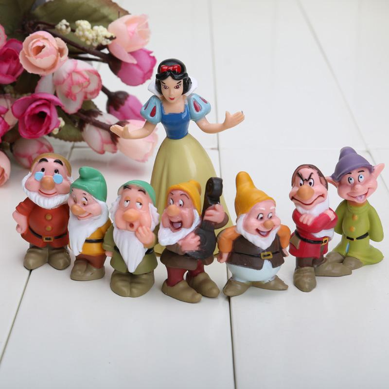 8pcs/set Seven Dwarfs And Princess Snow white Figure Model Toy(China (Mainland))