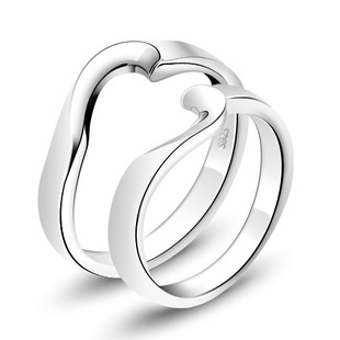 Silver platinum ring lovers finger ring jewelry silver jewelry(China (Mainland))