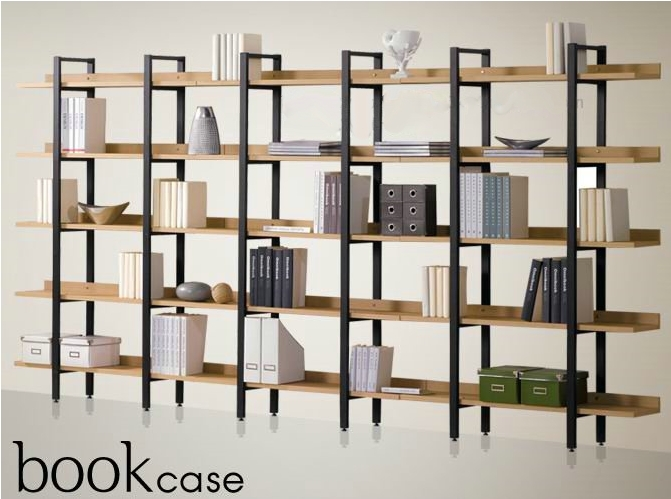 pas cher fer tag re en bois biblioth que tag res d. Black Bedroom Furniture Sets. Home Design Ideas
