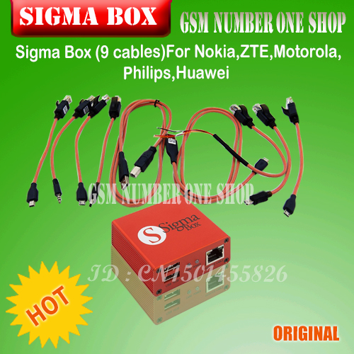 Sigma Box unlock Box and repair tool +9 cables china mobile software box for Motorola and other phone P15(China (Mainland))