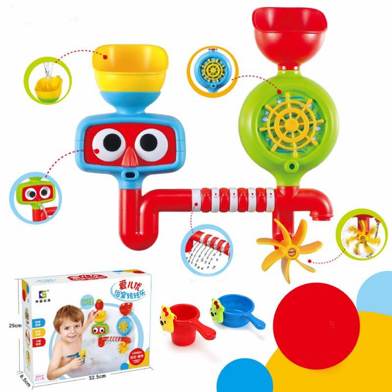 Lovely Portable Bath Tub Toy Water Sprinkler System Children Kids ...