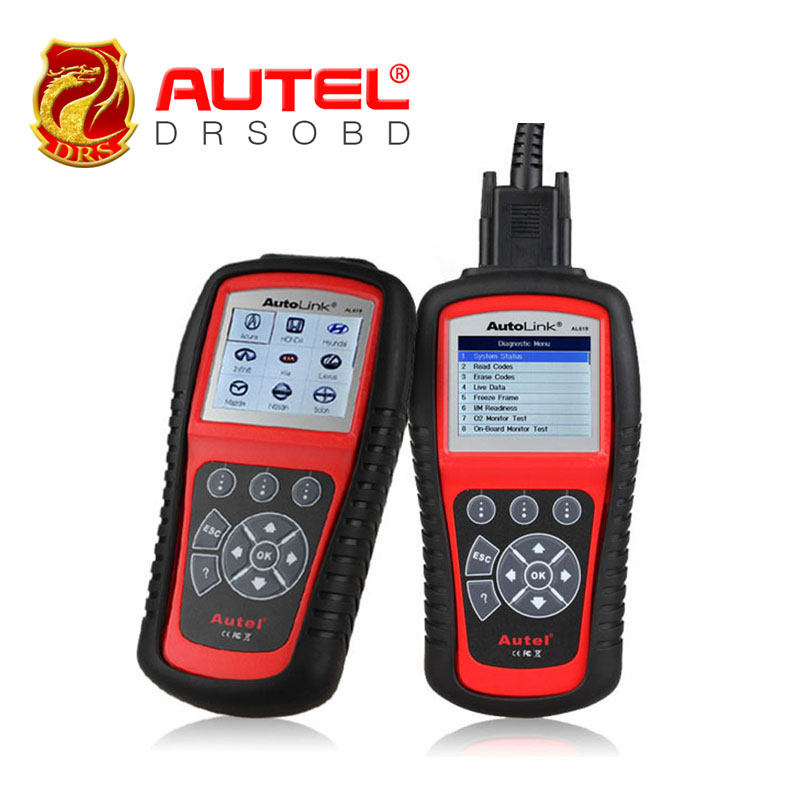 2016 New Arrival Autel Autolink AL619 ABS / SRS + CAN OBDII Car Diagnostic Scan Tool Check Engine ABS SRS warning lights(China (Mainland))