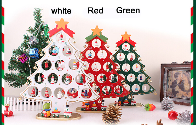 mini wooden christmas tree ornaments 2