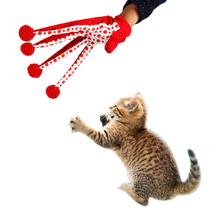 Domestic Delivery Pet Toys Gloves Play with Cats Interesting Toy Red Dot 2015 New Arrival Quickly Send Out