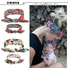 TWDVS Girls Toddler Infant Newborn Flowers Print Floral Butterfly Bow Hairband Turban Knot Baby Headband Hair Accessories kt043(China (Mainland))