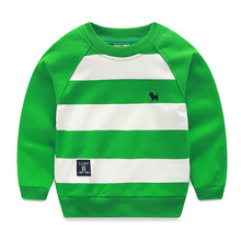 Hot sale Baby stripe sweatshirt,New 2016 spring and autumn children's clothing child clothing boys o-neck pullover (China (Mainland))