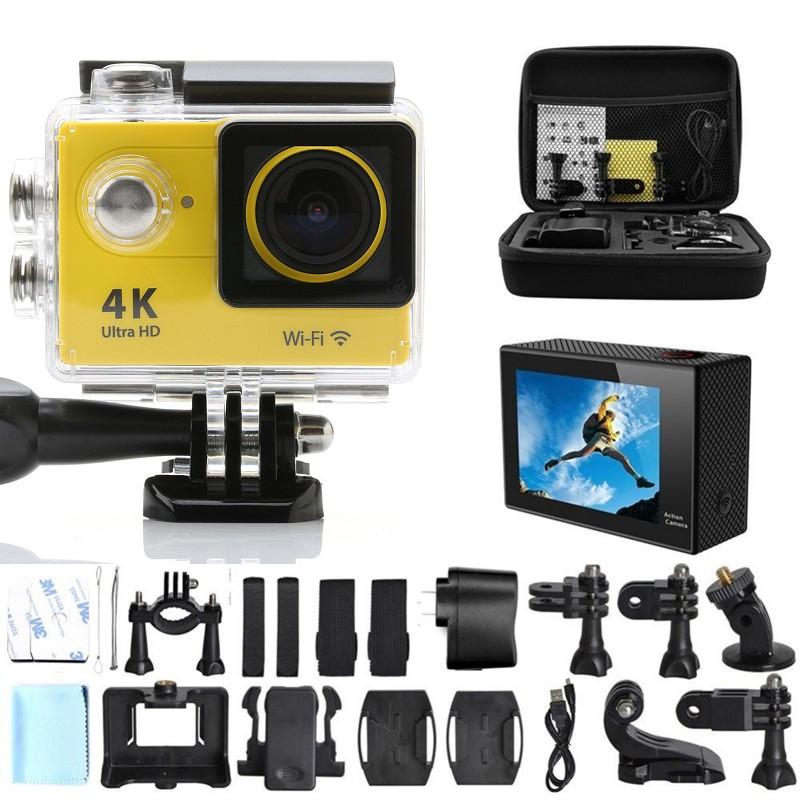 GoPro hero 4 style Original 4K camera Action camera Ultra HD WiFi 1080P Sport 2.0 LCD 170D lens Helmet Cam waterproof camera(China (Mainland))