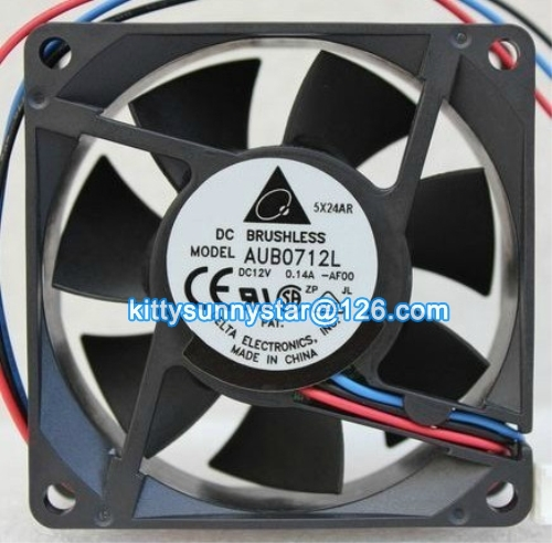 Free shipipng Delta 70x70x15mm AUB0712L 12V 0.14A 3Wire AMD CPU Fan,Cooling Fan(China (Mainland))