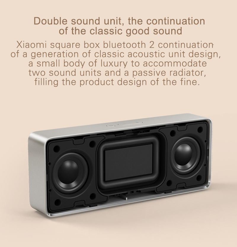 Original Xiaomi Bluetooth Speaker 2 Square Box Stereo Portable Mini Music Player MIUI Metal Wireless Speakers For Samsung Xiaomi (7)