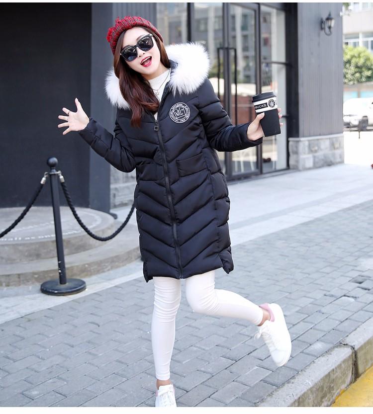 Скидки на Новый женская зимняя куртка, воспитать в себе мораль долго Синтепон хлопка-ватник, тяжелые волосы привело женские пальто