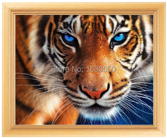 Diy Diamond painting animal diamond cross stitch crystal square diamond sets unfinished decorative Diamond embroidery tiger(China (Mainland))