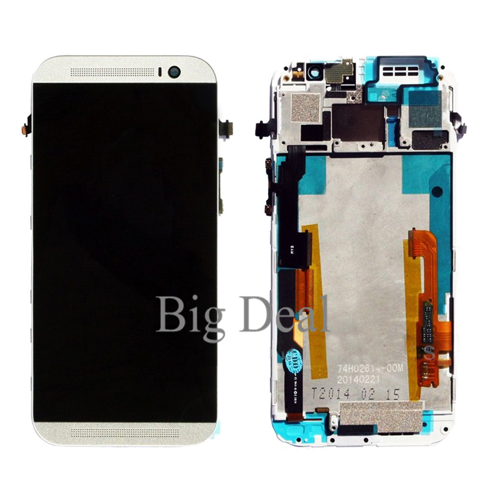 With Frame For HTC One M8 LCD Screen Display With Touch Screen Digitizer Assembly 100% Working Black or White Color