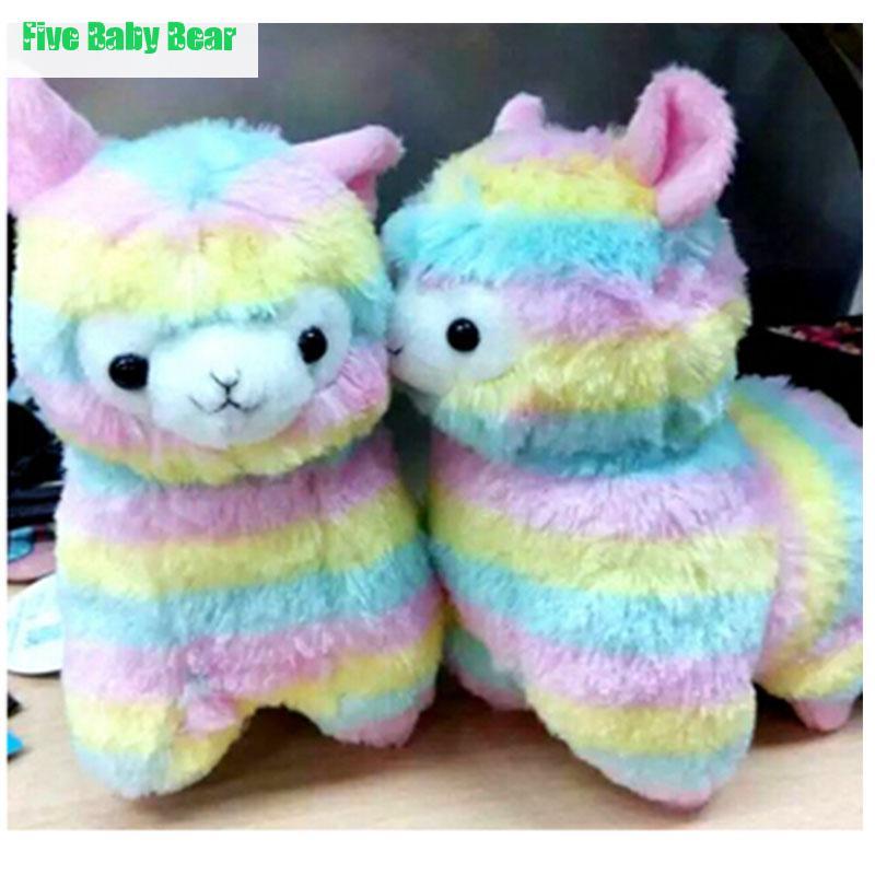 2016 Cute Doll Kawaii Alpaca Plush Toy Rainbow Baby Plush Toy Animals Alpaca Gifts 35cm And 45cm Brinquedo Plushs Toys(China (Mainland))