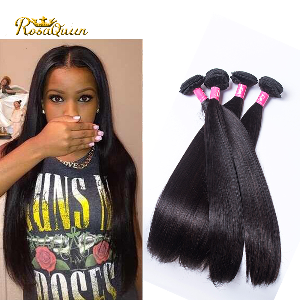7A Brazilian Virgin Hair Straight Queen Hair Products Brazilian Hair Weave 4 Bundles Unprocessed Virgin Brazilian Straight Hair