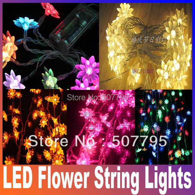 Светодиодная лампа Oem 20 Multi RGB S xmaS LED Flower String Lights