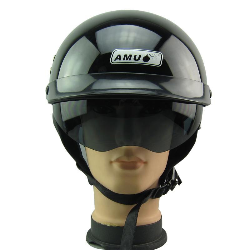Fiber glass Harley Jet Vintage retro helmet, half 1/2 motorcycle motorbike motorcross helmet Casco Capacete visor Free shipping(China (Mainland))