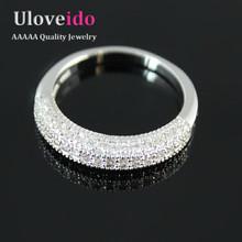 แต่งงานZ Irconia CZเพชรตัดน่ารักเครื่องประดับแหวนสำหรับผู้หญิงเงินชุบAnel Feminino BijouxวินเทจคริสตัลพรรคแหวนY100