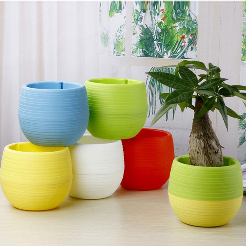 Gardening Mini Plastic Flower Pots Vase Square Flower Bonsai Planter Nursery Pots /Flower Pots Planters/Garden Pots 5pcs/lot(China (Mainland))