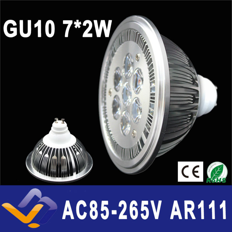 GU10  ES111 QR111 AR111 LED lamp 14W Spotlights Warm White /Nature White/Cool White Input AC 85-265V   3 years warranty<br><br>Aliexpress