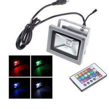 10W RGB Waterproof Led Floodlight Outdoor Landscape Lamp IP65+Remote Control OL(China (Mainland))