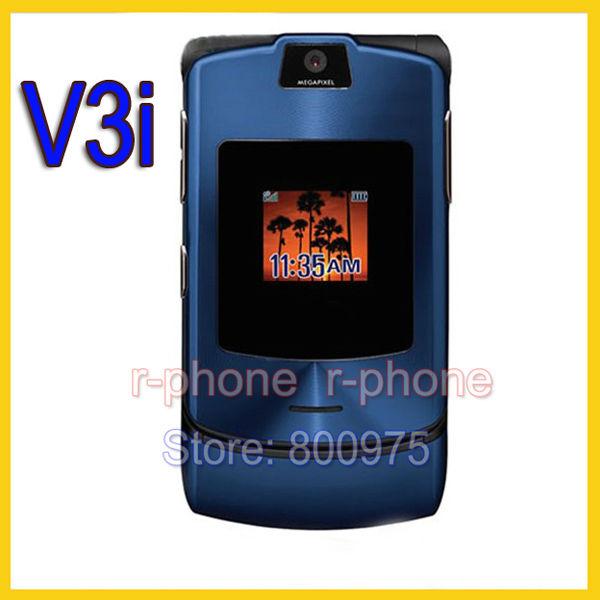 Hot Sale Unlocked Original Motorola Razr V3i Mobile Cell Phone GSM Quan-Band Camera Bluetooth MP3 Refurbished Phone(China (Mainland))