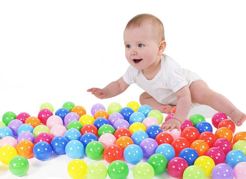 55pcs or 105pcs / lot baby ball pit balls Eco-Friendly Plastic Ocean Ball Pool Color Mixing Ball Pool For Kids swimming pool(China (Mainland))