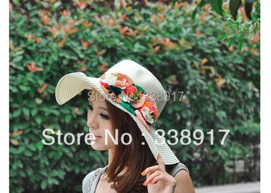 Free Shipping Fashion sun Hats,Sport Party fitted back Hat,Unisex Wholesale High quality holiday flower suncap(China (Mainland))