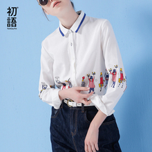 Buy Toyouth Long Sleeve Shirt Women 2017 Spring New Cartoon Print Shirt Casual Ladies Blouse Turn Collar Women Tops for $19.20 in AliExpress store