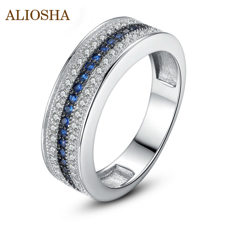 Aliosha 18K Platinum Plated Women Finger Ring with Blue and Clear AAA Zircon Discount Luxury Unusual Ring White Ring(China (Mainland))