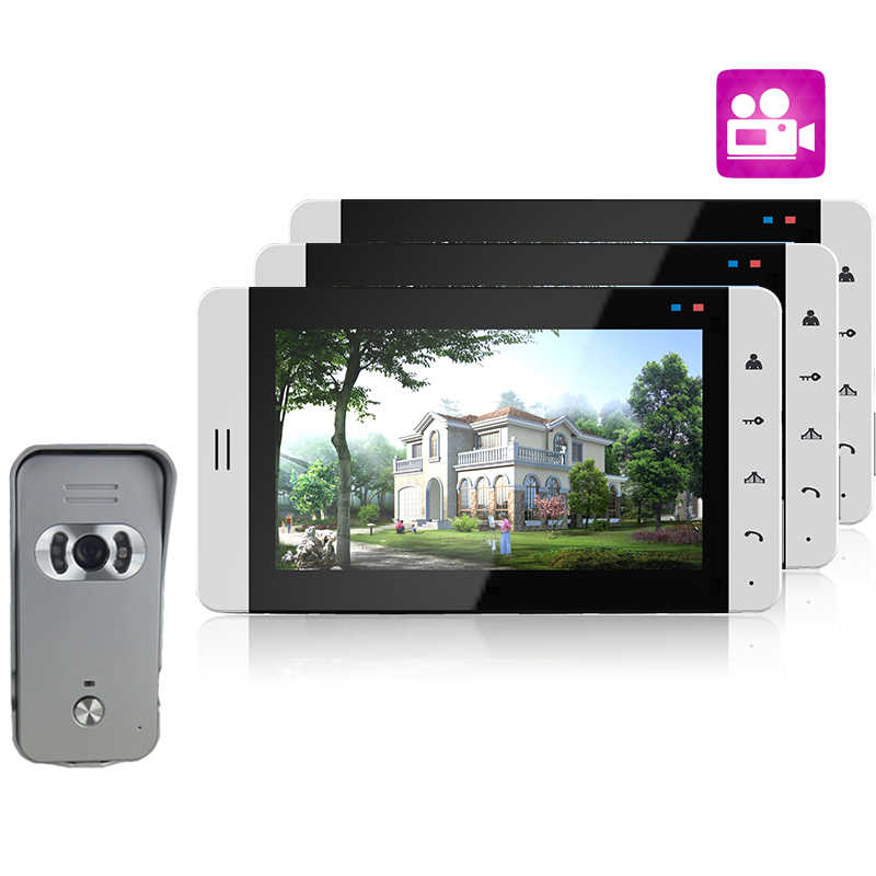 Nice Design 7 inch Wired Video Doorbell Intercome System Support Recording And Photo Taking 700TVL IR Night Vison Camera<br><br>Aliexpress