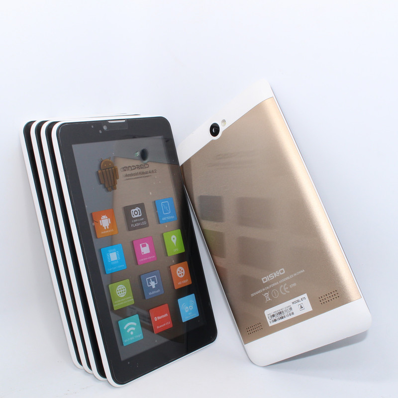 SALE Phablet 7 inch 3G Android Dual Core Tablet PC MTK6572 512MB+4GB GPS Bluetooth FM Android Tablet with leather case(China (Mainland))