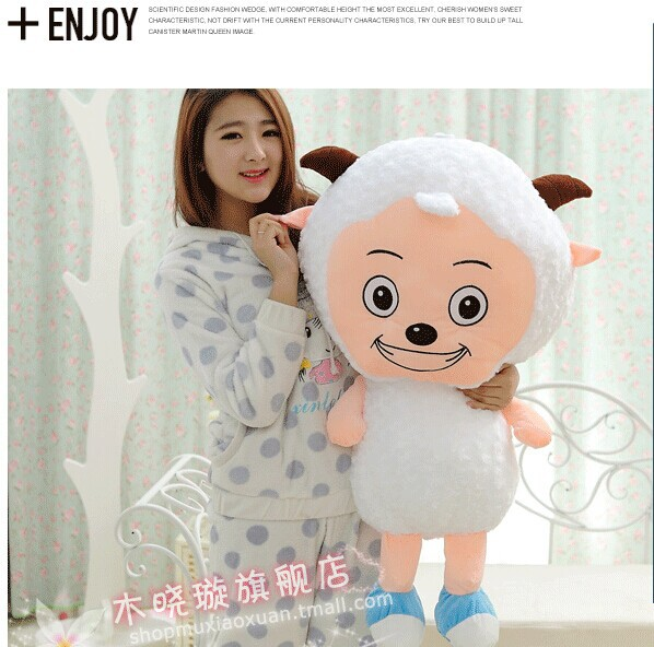 huge 100cm lovely sheep plush toy cartoon pleasant goat doll , birthday present ,Christmas gift w5490<br><br>Aliexpress