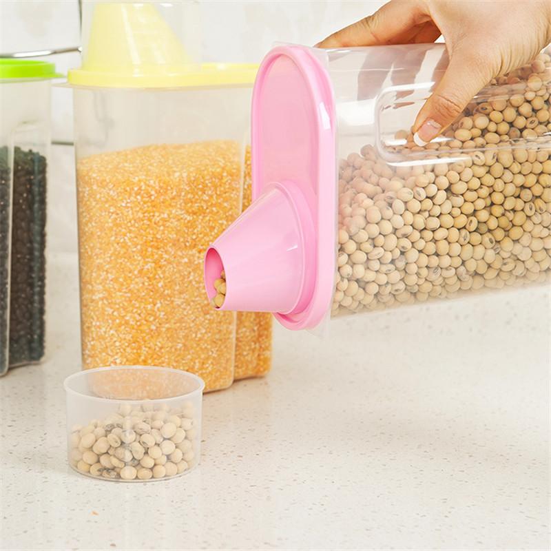 Home Kitchen Canister Storage plastic canister food storage Bottles Jars mason jar HA23(China (Mainland))