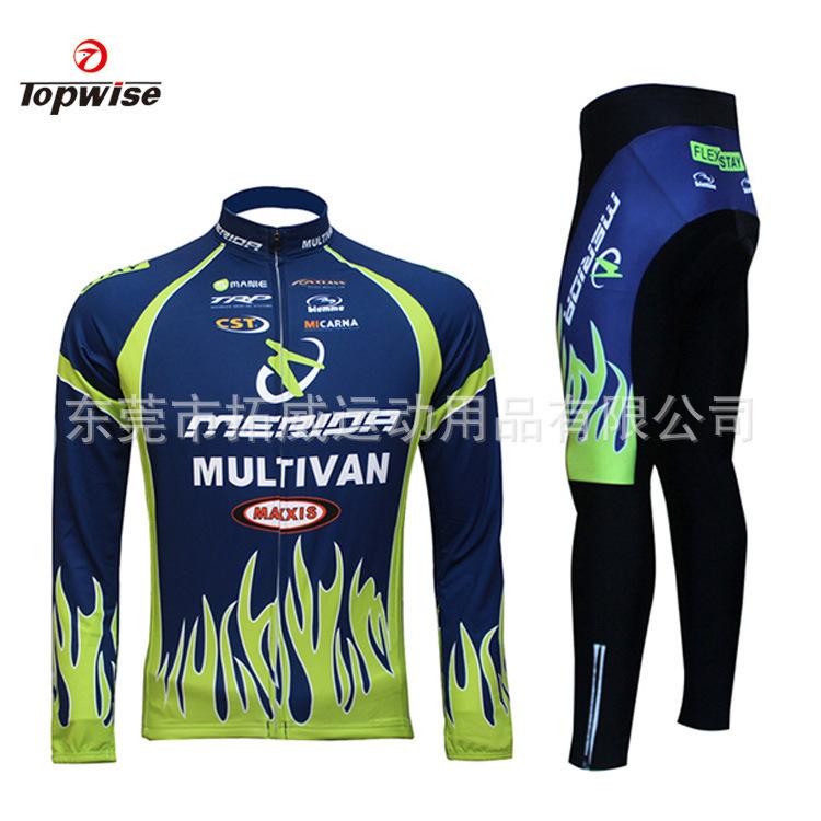 2014 Merida Bike Bicycle Jersey Clothing Cycling Long sleeve jersey + Bib Short Sets Mens Cycling jersey Winter Sportswear