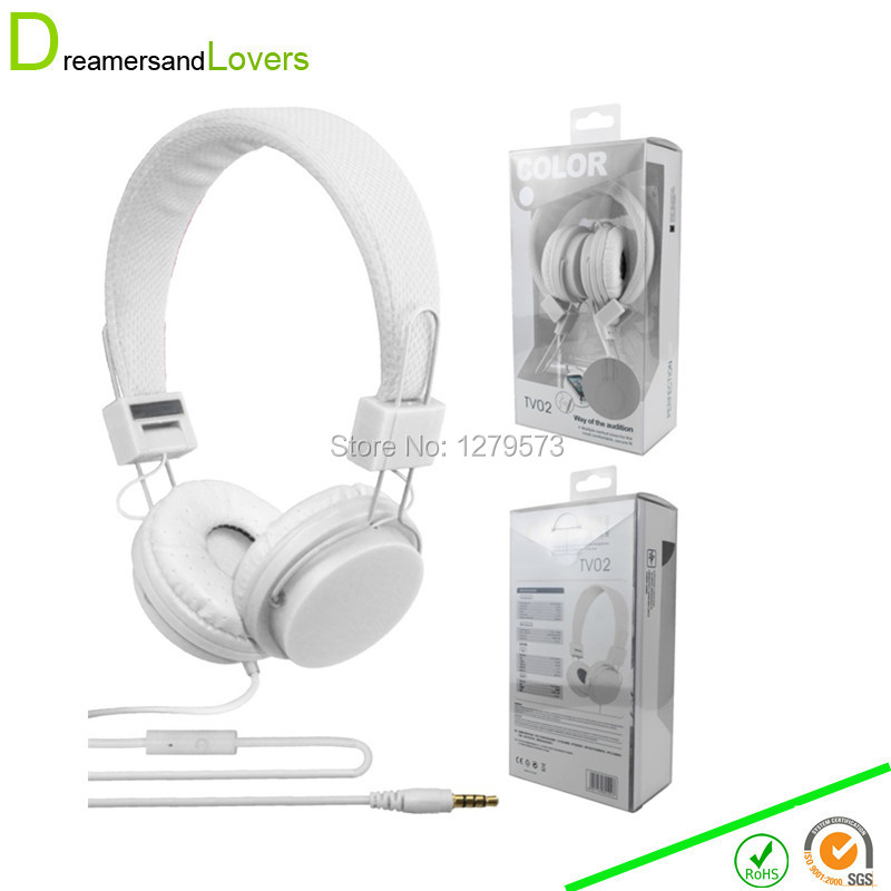 Dreamersandlovers Headphone Headset with Mic, Foldable and Adjustable for Smart Phones/ipad/ipod/mp3/mp4, Best Christmas Gifts(China (Mainland))