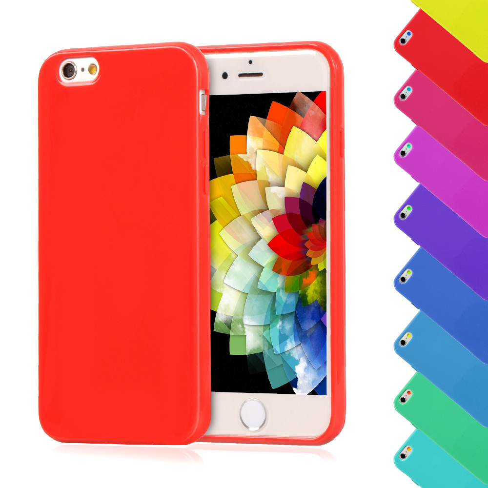 For iPhone6S 6G 4.7' Candy Color Silicone TPU Gel Soft Case For Apple iPhone 6 6S Rubber Soft Back Cover Shockproof Phone Cases(China (Mainland))