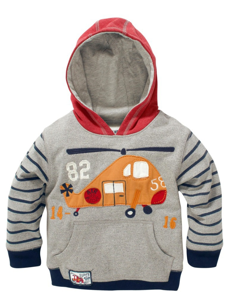 New Arrival Cute Helicopter Boys Hoodies Hot Sale Baby