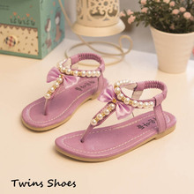 2015 new spring summer girls crystal sandals children princess T pearl shoes kids baby Eu 26-30 gold pink red white sandals(China (Mainland))