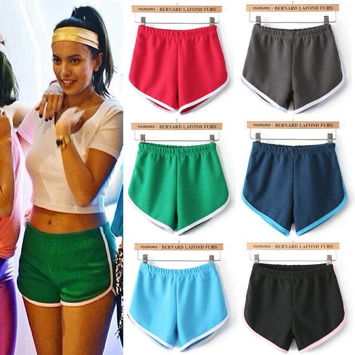 Women's sports slim running shorts summer compression ...