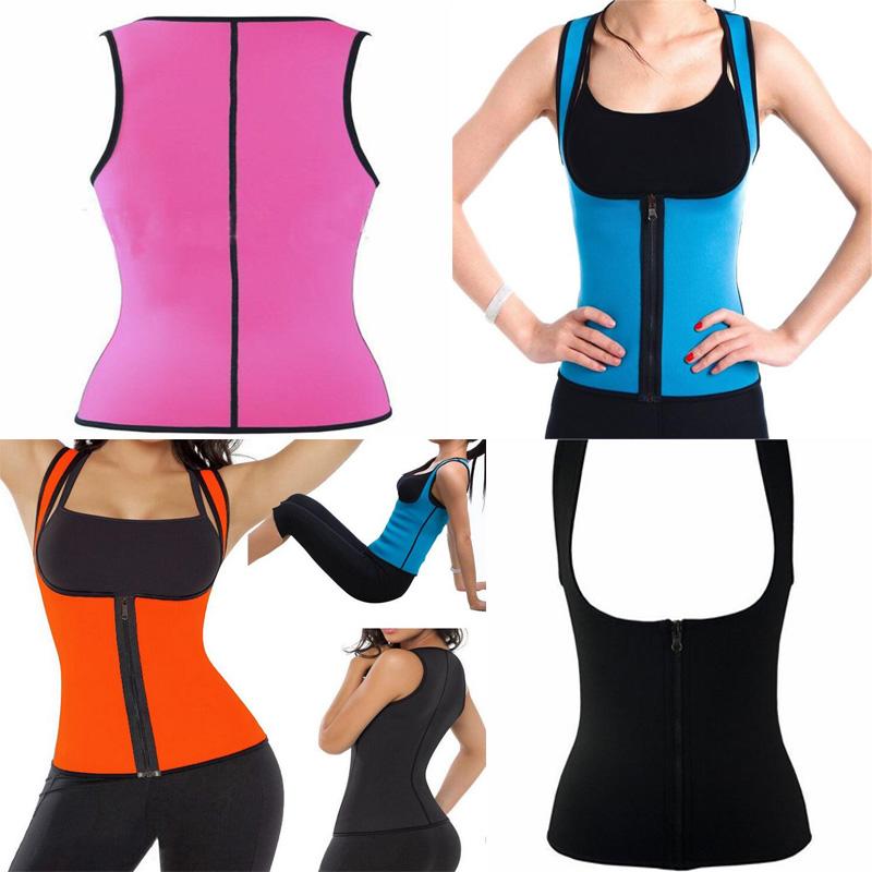 PalicyNew Zipper Sweater Neoprene Waist Trainer Women Waist Training Tummy Control Corset Cincher Slimming Body Shaper Slim Suit(China (Mainland))